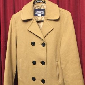 Lands End-Vintage Wool Coat w/Anchor Buttons-10
